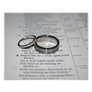 結婚指輪のファインアートのプリント 写真アート