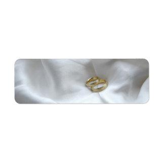 結婚指輪のラベル 返信用宛名ラベル