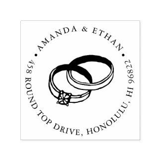 結婚指輪|の差出人住所 セルフインキングスタンプ