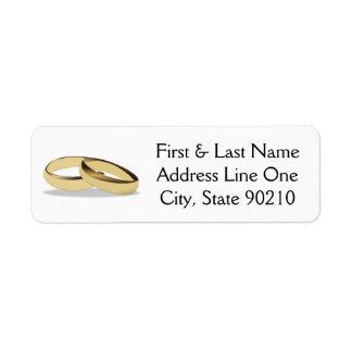 結婚指輪 返信用宛名ラベル