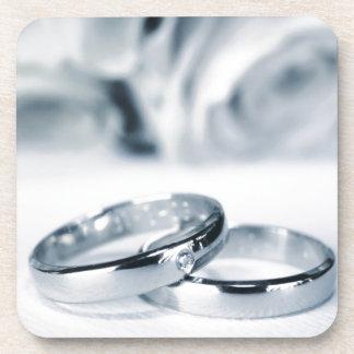 結婚指輪 飲み物コースター