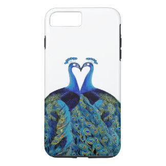 結婚祝いに接吻しているヴィンテージの孔雀 iPhone 8 PLUS/7 PLUSケース