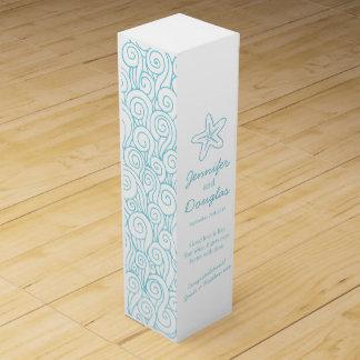 結婚祝いの名前入りなヒトデの海のワイン箱 ワインギフトボックス