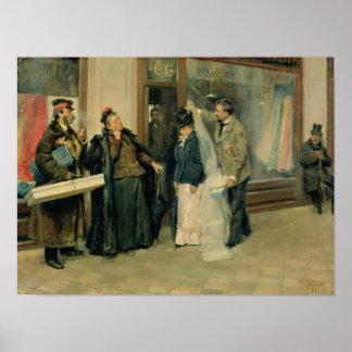 結婚祝いの品の選択、1897-98年 ポスター