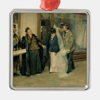 結婚祝いの品の選択、1897-98年 メタルオーナメント