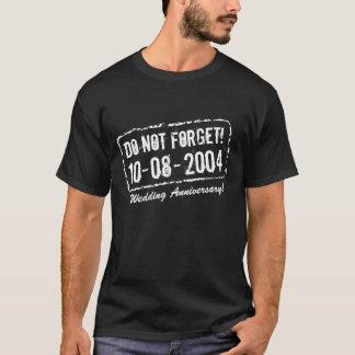 結婚記念日のためのおもしろいなメモのTシャツ Tシャツ