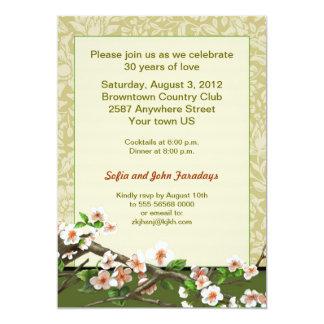 結婚記念日のクラシックな花パターン カード