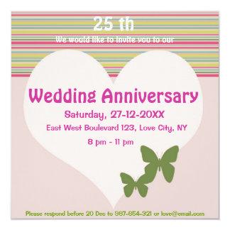 結婚記念日のパーティの招待状 カード