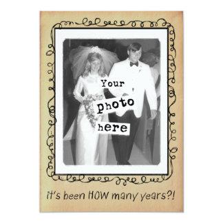 結婚記念日のパーティーのカスタム カード