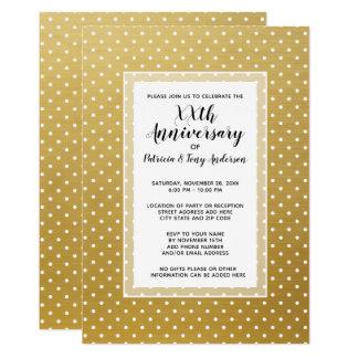結婚記念日のパーティーのモダンなポルカ第50の金ゴールド カード