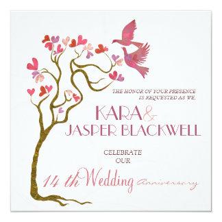 結婚記念日の招待状 カード