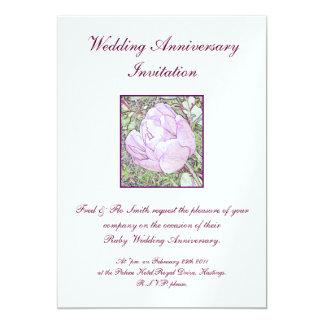結婚記念日の招待 カード