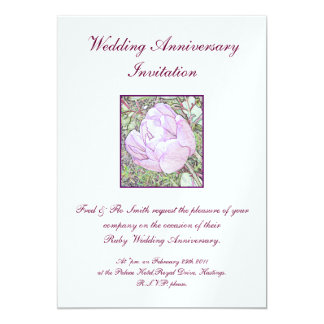 結婚記念日の招待 12.7 X 17.8 インビテーションカード