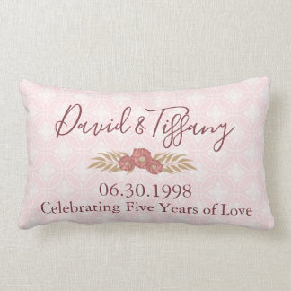 結婚記念日5年間の愛 ランバークッション