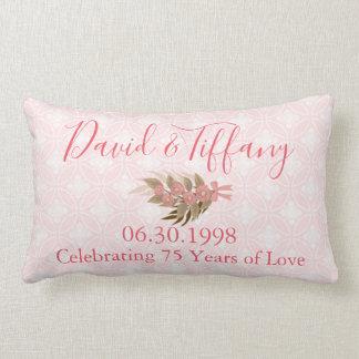 結婚記念日75年のピンク ランバークッション