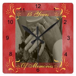 結婚記念日 スクエア壁時計