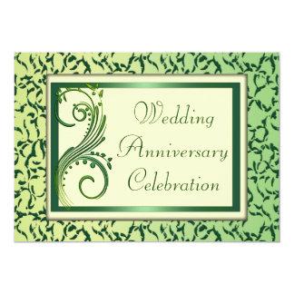 結婚記念日 12.7 X 17.8 インビテーションカード