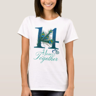 結婚記念日/14/第14/第14 Tシャツ