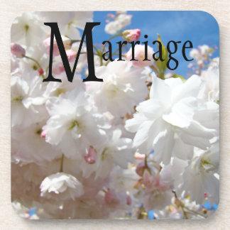 結婚|ギフト|コースター|結婚式|白い|花