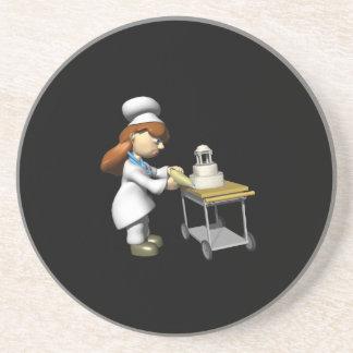 結婚|ケーキ|2 ドリンクコースター