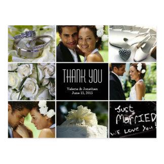結婚 コラージュ 感謝していして下さい  郵便はがき はがき
