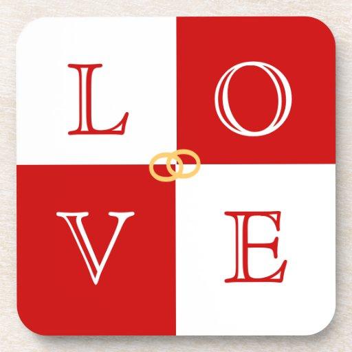 結婚|好意|愛|コースター|セット ドリンクコースター