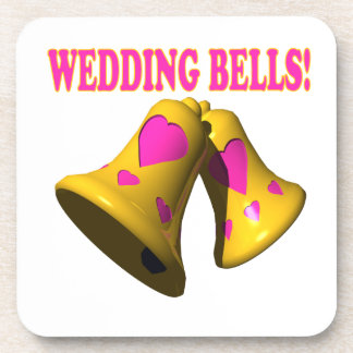 結婚 鐘 4 ドリンクコースター