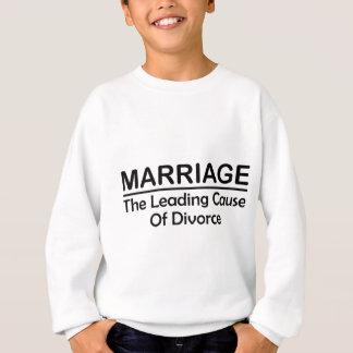 結婚: 離婚の一流の原因 スウェットシャツ