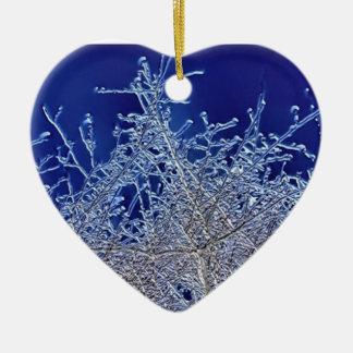 結晶の枝ハートの陶磁器の装飾 セラミックオーナメント