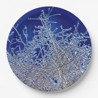 結晶の枝紙皿9 inに ペーパープレート
