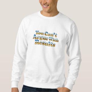 結果-白い基本的なスエットシャツと論争できません スウェットシャツ