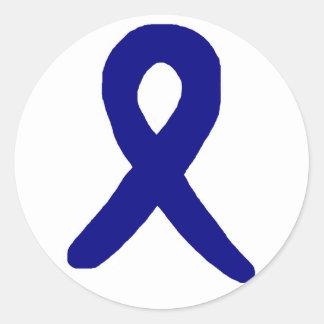 結腸癌の認識度のステッカー ラウンドシール