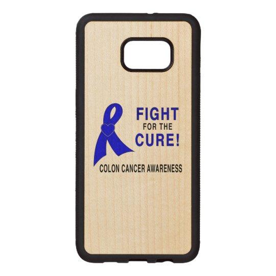 結腸癌の認識度: 治療のための戦い! ウッド SAMSUNG GALAXY S6 EDGE ケース