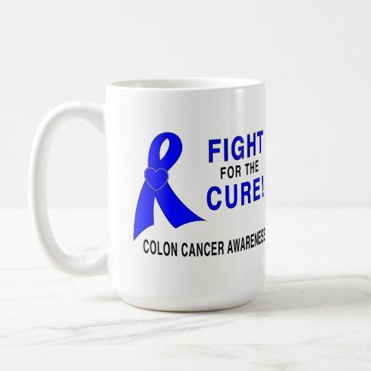 結腸癌の認識度: 治療のための戦い! コーヒーマグカップ