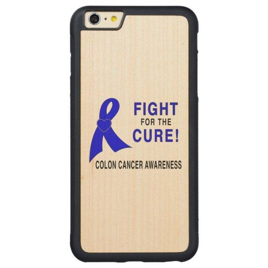 結腸癌の認識度: 治療のための戦い! CarvedメープルiPhone 6 PLUSバンパーケース