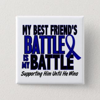 結腸癌私の戦い余りに1人の親友(彼) 5.1CM 正方形バッジ