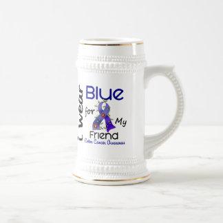 結腸癌私は私の友人43のための青を身に着けています ビールジョッキ