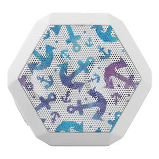 絞り染めのいかりパターン2 ホワイトBluetoothスピーカー