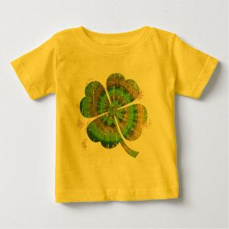 絞り染めのクローバー ベビーTシャツ