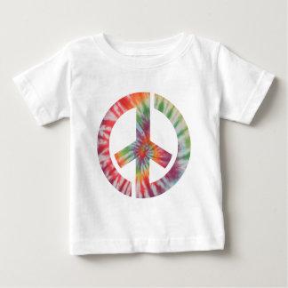 絞り染めのステンシル平和 ベビーTシャツ