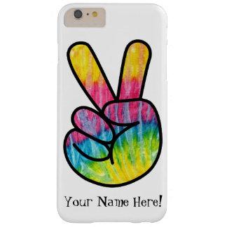 絞り染めのピースマーク手の芸術の電話箱 BARELY THERE iPhone 6 PLUS ケース