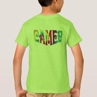 絞り染めのロゴの子供のカメオのTシャツ Tシャツ