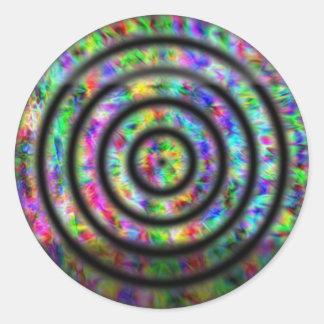 絞り染めの円 ラウンドシール