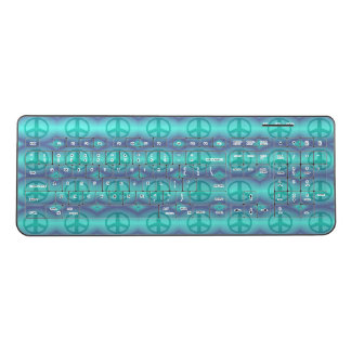 絞り染めの効果のピースサイン ワイヤレスキーボード