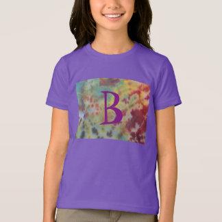 絞り染めの女の子のワイシャツ Tシャツ