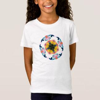 絞り染めの女の子はTシャツに合いました Tシャツ