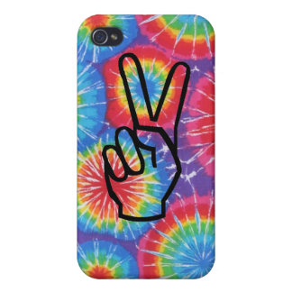 絞り染めの平和手のiphone 4ケース iPhone 4/4Sケース