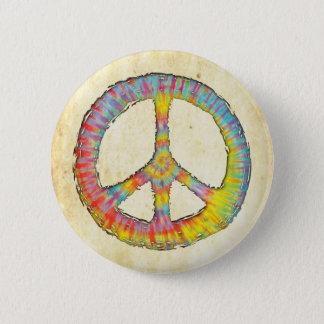 絞り染めの平和713 5.7CM 丸型バッジ