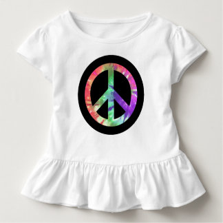 絞り染めの平和 トドラーTシャツ