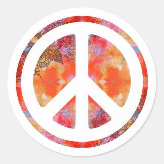 絞り染めの平和 ラウンドシール